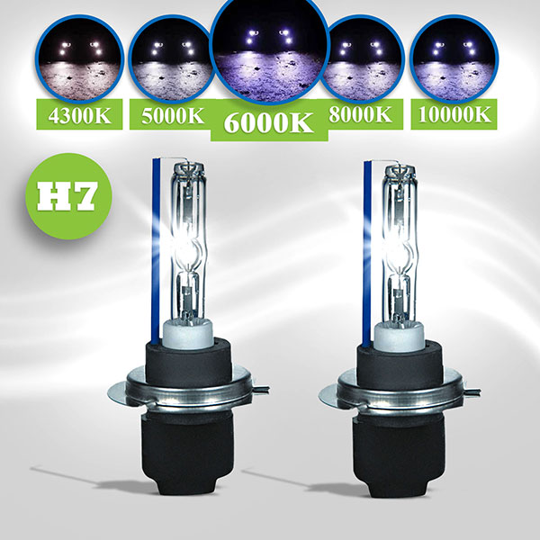 Hid xenon lampen h7 6000k bmw e39 95 00 hl automotive for Lampen 6000 kelvin