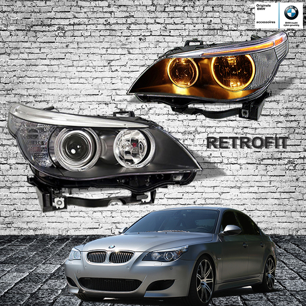 Angel Eyes Halogeen Koplampen Bmw E60 Lci E61 Lci Retrofit