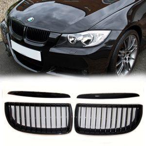 grille-bmw-e90-e91-hoogglans-zwart