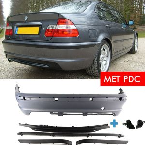M-Tech Achterbumper met PDC + Bumpersteunen BMW E46 Sedan 01-05