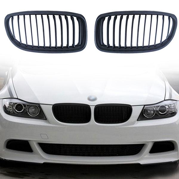 Grille BMW E90/E91 LCI vanaf 09/2008 Mat Zwart