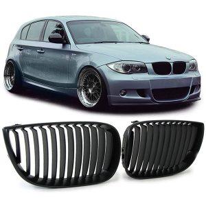BMW E81 E87-Nieren-Grille-Zwart