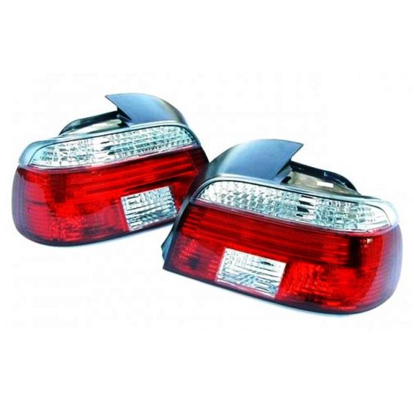 Achterlichten BMW E39 Sedan 9/00-03 Wit-Rood DEPO