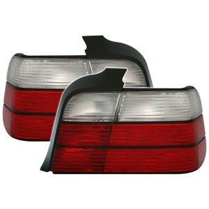 Achterlichten BMW E36 4D 90-99 Wit/Rood