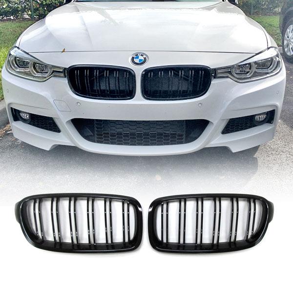 Grille-M3-look-BMW-F30-F31-Glanzend-Zwart