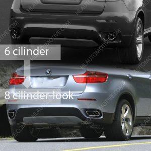 Uitlaat-Sierstuk-8-CILINDER-LOOK-BMW-X6-E71-Chroom