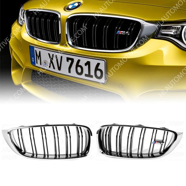 M4-Grille-Nieren-BMW-F32-F33-F36-F82-F83-Chroom-Zwart