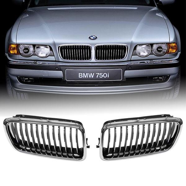 bmw grille nieren bmw e38 chroom hl automotive. Black Bedroom Furniture Sets. Home Design Ideas