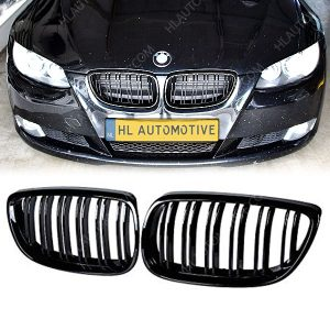 Grille-BMW-E92-E93-Dubbel-Spijl-Hoogglans-Zwart