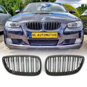Grille-BMW-E92-E93-Dubbel-Spijl-Mat-Zwart