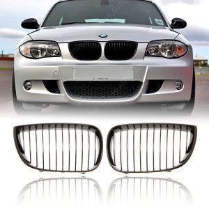 Grille-Nieren-BMW-E81-E87-Hoogglans-Zwart