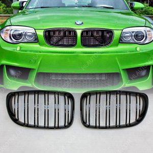 Grille-BMW-E8x-Dubbel-Spijl-Hoogglans-Zwart