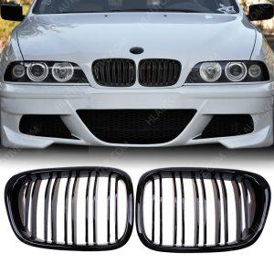 Grille-BMW-E39-Dubbel-Spijl-Hoogglans-Zwart