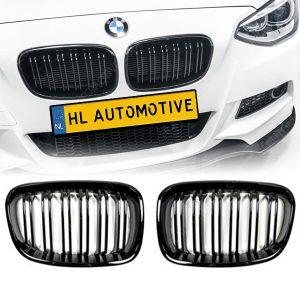 M Grille BMW F20/F21 Dubbel Spijls Hoogglans Zwart