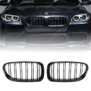 Grill BMW F10/F11 Dubbel Spijls Glanzend Zwart